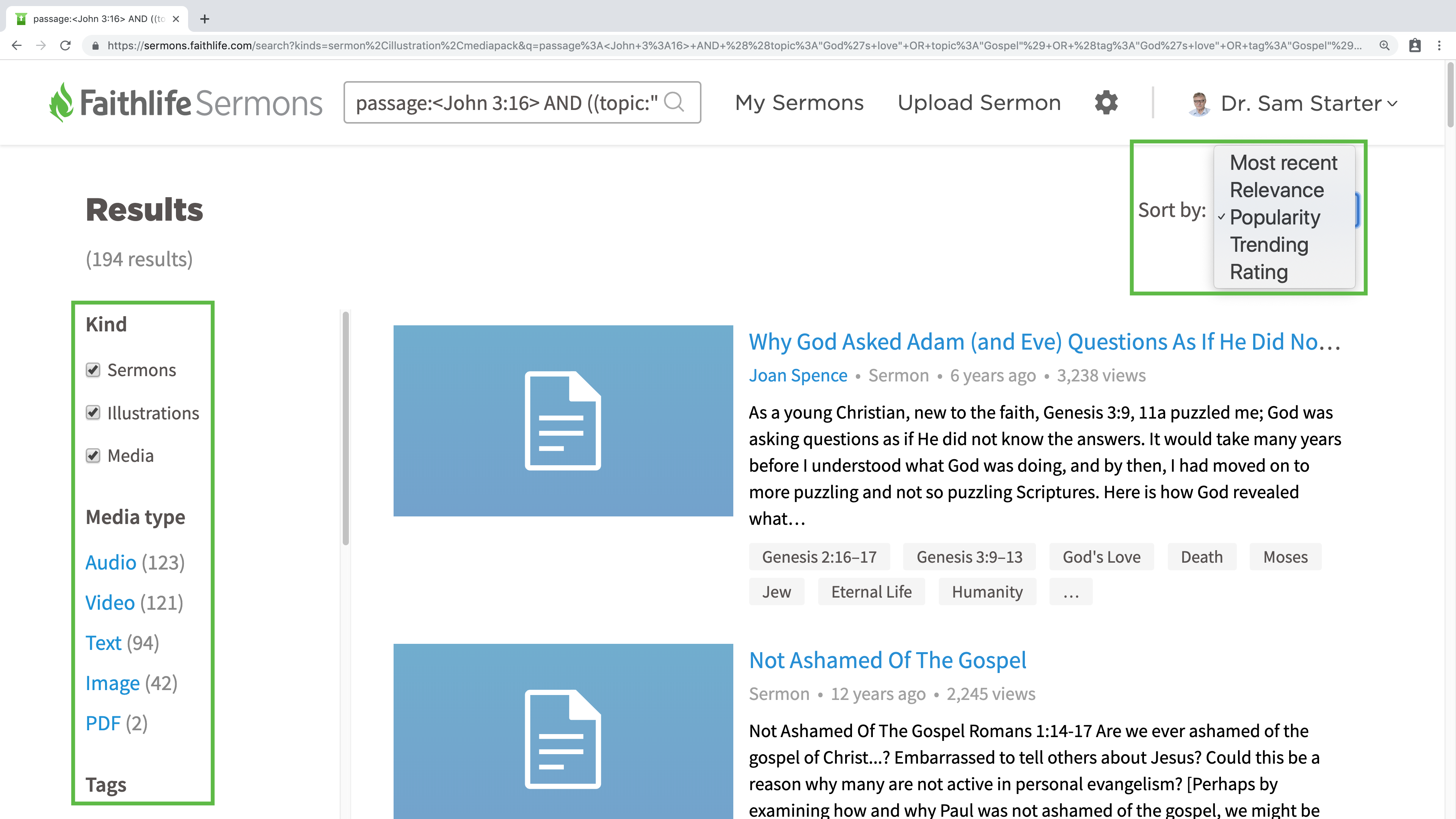 Search for Sermons, Illustrations, and Media – Faithlife